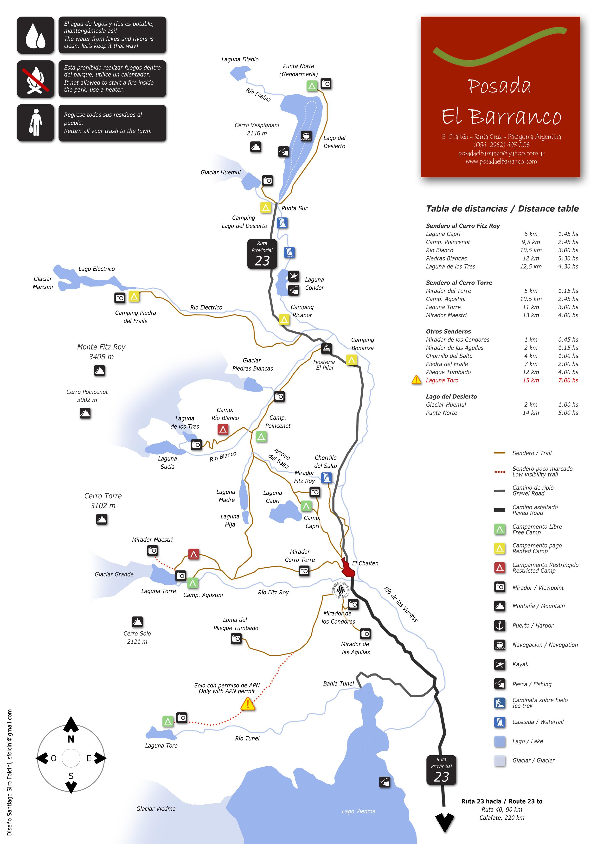 Argentina Los Glaciares National Park Plan Souch America Trip - Argentina bus map